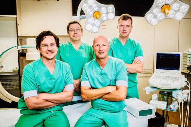 De vier artsen van AZ Delta die slokdarmoperaties uitvoeren