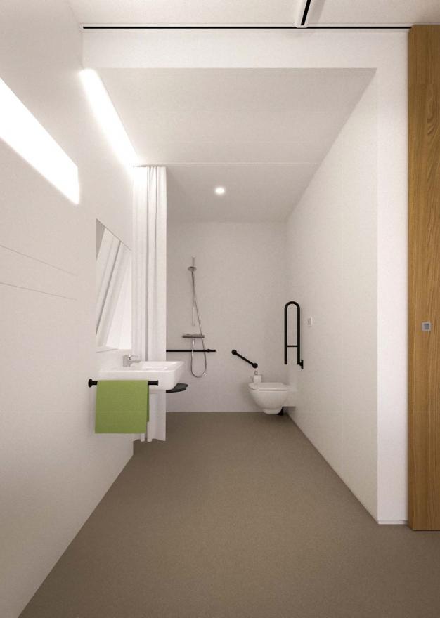 Beeld van de badkamer