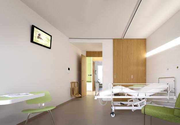 Beeld van de patiëntenkamer