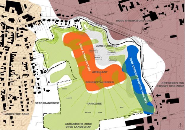Plannetje van grote lijnen van bouw nieuwe ziekenhuis