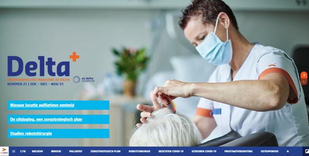verpleegkundige die haren kamt van patiënte op palliatieve afdeling