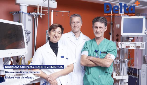 Coverfoto met 3 artsen die pleiten voor griepvaccinatie