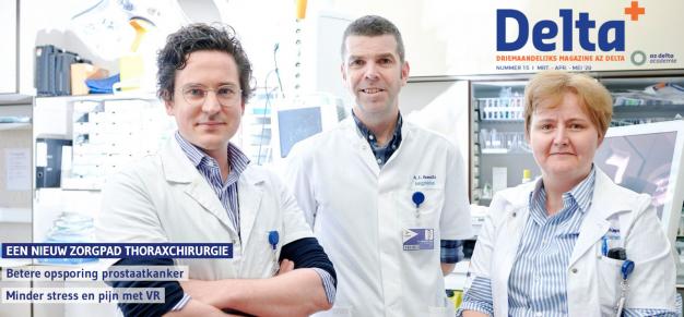 Cover met de artsen die betrokken zijn bij zorgpad oncologische thoraxchirurgie