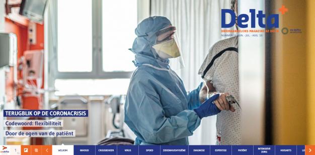 cover verpleegkundige ondersteunt COVID-patiënt