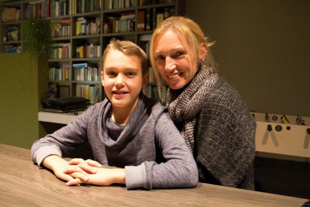 Diabetespatiënt, Josse samen met zijn moeder.