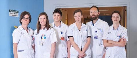 Foto van leden van team stamceltransplantatie