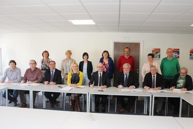Ondertekening van de fusie CAO