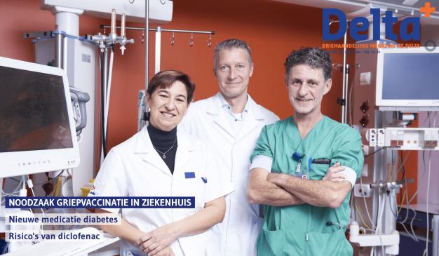 Coverbeeld met 3 artsen griepvaccinatie