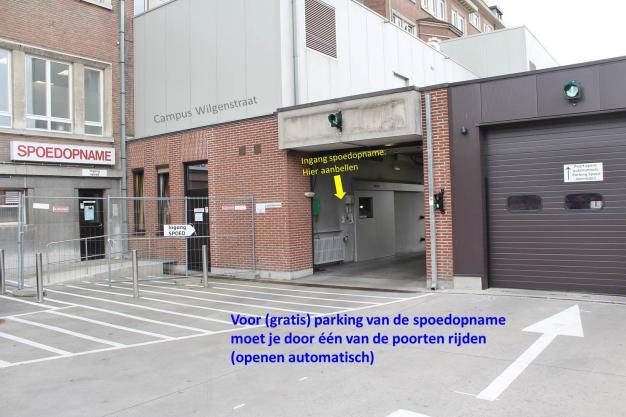 wijziging spoedopname campus Wilgenstraat