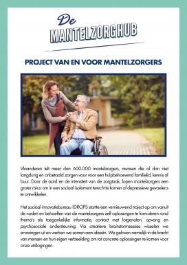 Flyer mantelzorgers gezocht, stad Roeselare
