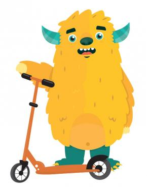 mascottemonstertje van kinderwebsite